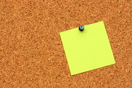 The pure pieces of paper, enclosed to corkboard