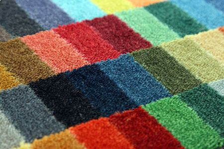 Samples of color of a carpet covering, can be used as a background