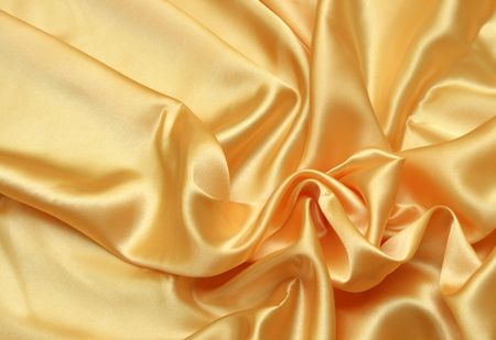 golden fabric can be used as a background Stock Photo - 3816459