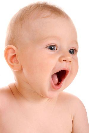 portrait baby boy , isolated on white background Stock Photo