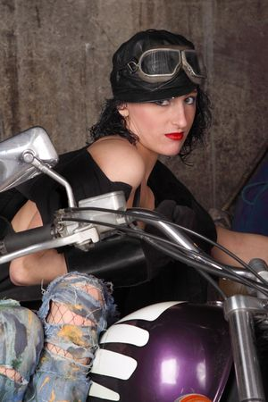 girl on a motorcycle photo