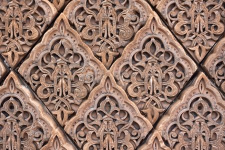 arabic  style:  East patterns on a wall Stock Photo