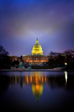 US Capitol Building Basked in Lavender