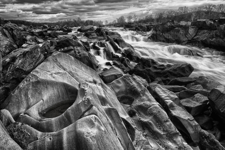 body scape: Great Falls Park on the Potomac River