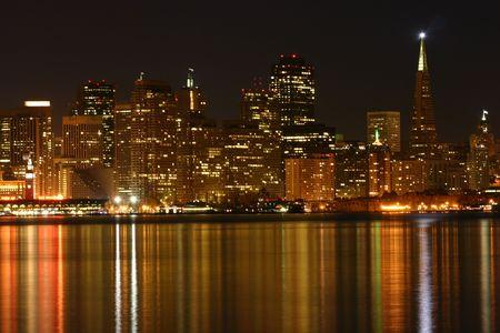 샌프란시스코: San Francisco at night 스톡 사진