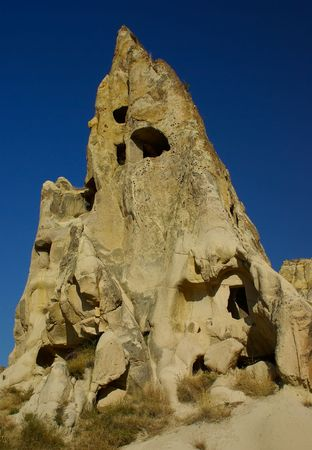 best ad: The most famous sight in Turkeys Cappadocia region is the Goreme Open-Air Museum. The Goreme Valley holds the regions best collection of painted cave-churches. Medieval orthodox Christian monks (1000-1200 AD) carved the caves from the soft volcanic ston