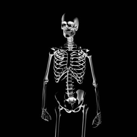 Illustration: skeleton to the x-ray Stock Photo