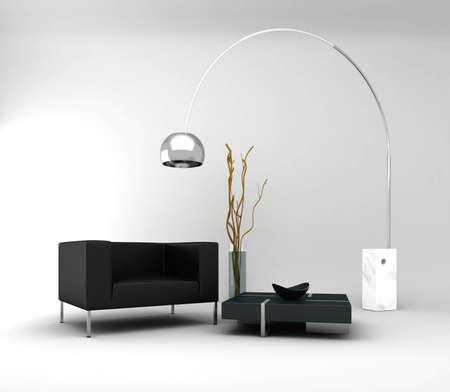 Minimal Interior Stock Photo