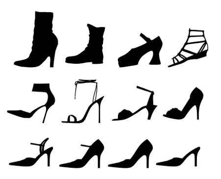 Photo: Silhouette woman shoes