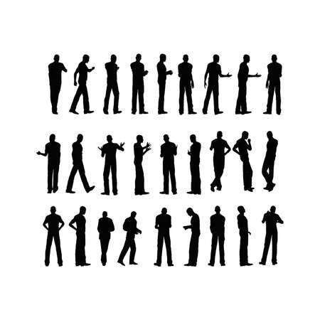 SIlhouette: Man Stock Photo