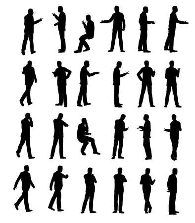 Silhouette man business Stock Photo