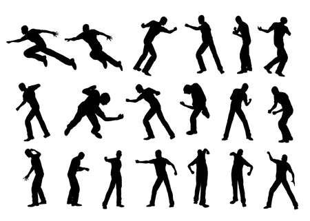 Silhouette fighting