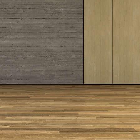 Concrete & wood