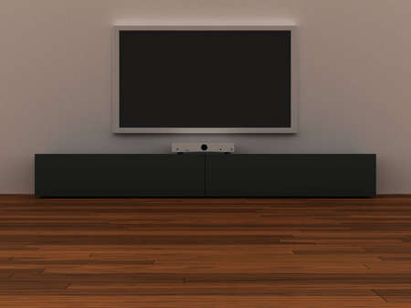 Interior whit a LCD TV