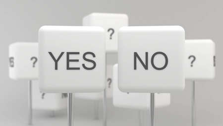 hamlet: Yes or No?  Stock Photo