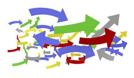 Colored arrows Stock Photo