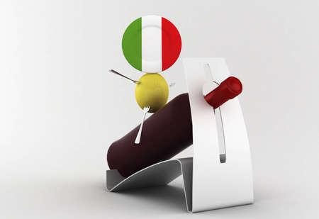 Italy food: a strange knight