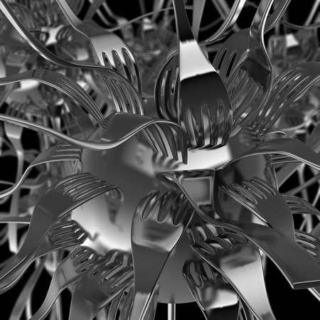 Flower of forks