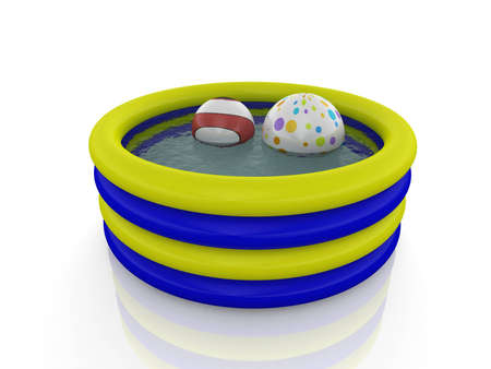 inflatable pool whit balls