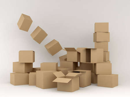 cardboard boxes Stock Photo - 12526542