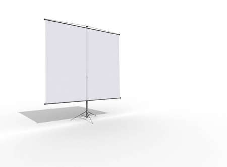 projection: blank projection screen