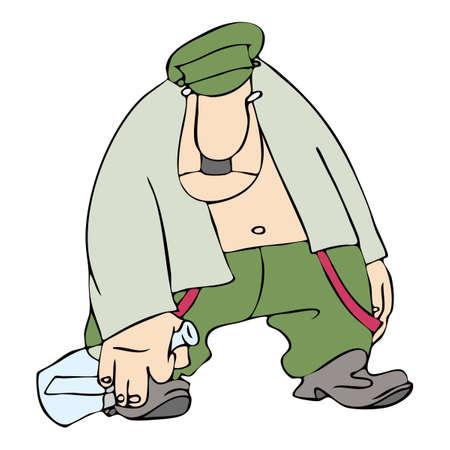 bajo y fornido: Soldados ebrios del ej�rcito zarista