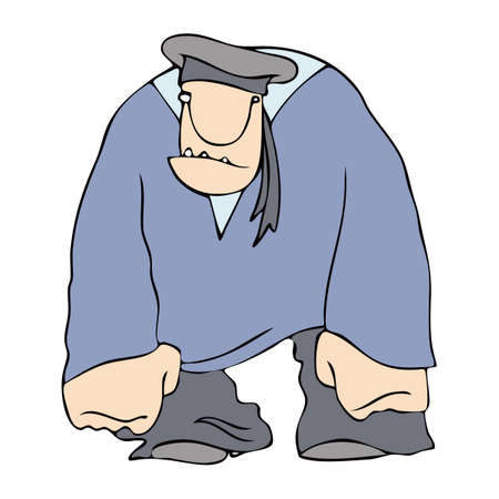 stocky: Sailor in uniform and his cap