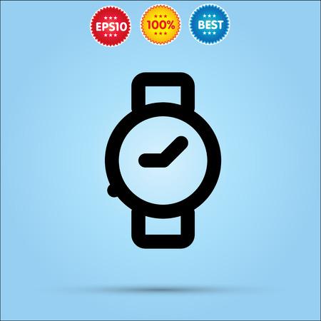 moto: Moto Watch flat design icon. Vector illustration.