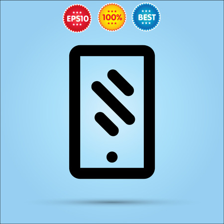 iphon: mobile phone flat icon for websites, vector illustration.