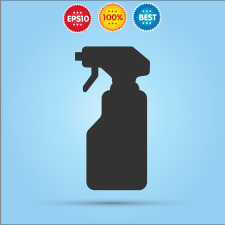 window cleaner: Window cleaner vector icon isolated on blue background