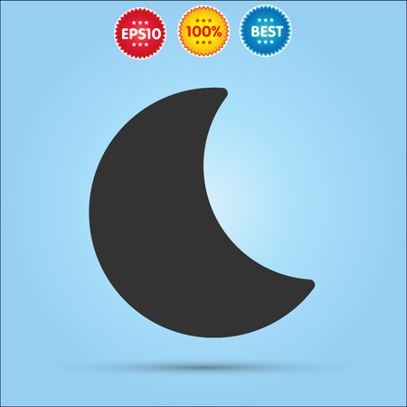 afterglow: Moon vector icon isolated on blue background Illustration