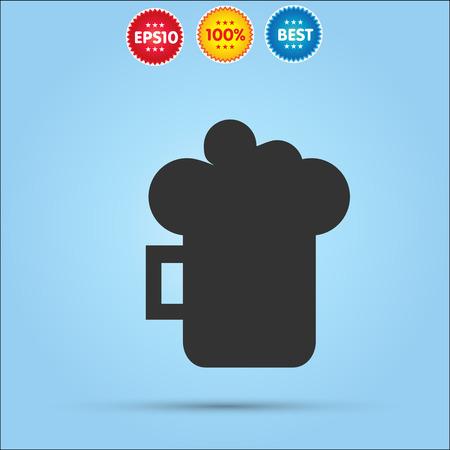 guinness: beer mug icon isolated on blue background Illustration