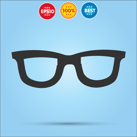 corrective: Vector Glasses Icon isolated on blue background Illustration