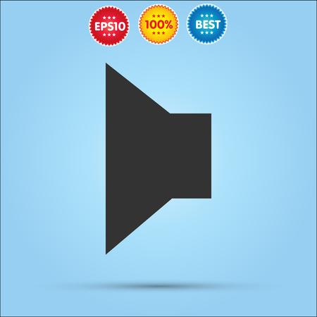strengthening: sound icon isolated on blue background. Illustration