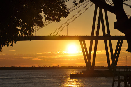 corrientes: Costanera, Bridge General Belgrano over Parana river, Corrientes, Argentina.