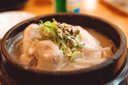 Korean Soup Samgye-tang. Ginseng Chicken Soup