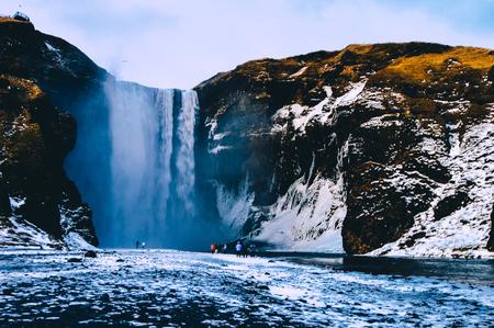 skogafoss waterfall: Glacier Hike Skogafoss waterfall South Iceland