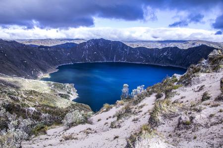 Quilotoa crater lake, Cotopaxi, Ecuador