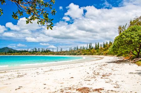 sud: White sea beach. Kuto, Sud, New Caledonia Stock Photo