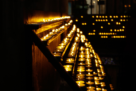 enlightening: Church candles Stock Photo
