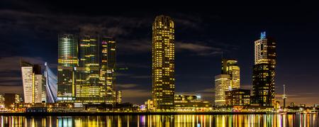rotterdam: Panorama Rotterdam skyline Stock Photo