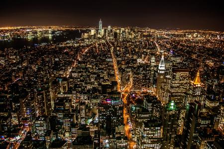 View top night New York