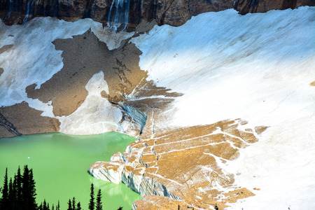 edith: Cavell Pond, National Park Jasper, Canada Stock Photo