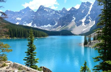 Lago Moraine, Parque Nacional Banff, Alberta, Canadá