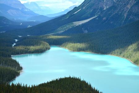 alberta: Peyto Lake, Icefields Parkway, Alberta, Canada Stock Photo