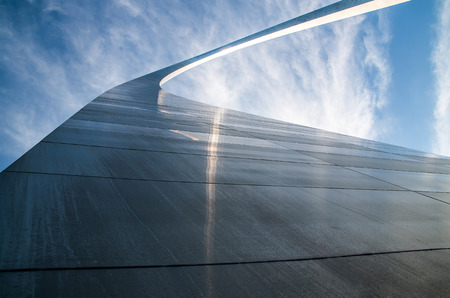 st louis: Gateway Arch in St. Louis and sky