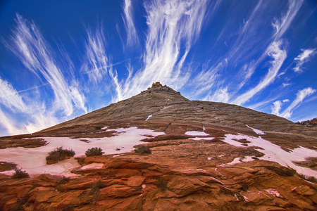 ut: Zion National Park mountain and clouds