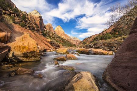 Zion National Park waterfall Фото со стока