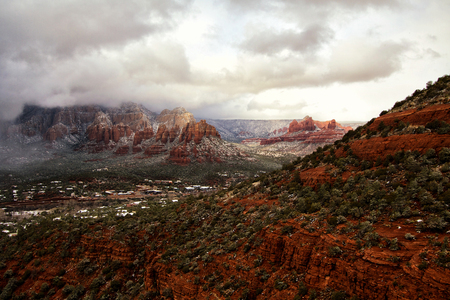 sedona: Mystical View, Red Rocks in Sedona, Arizona