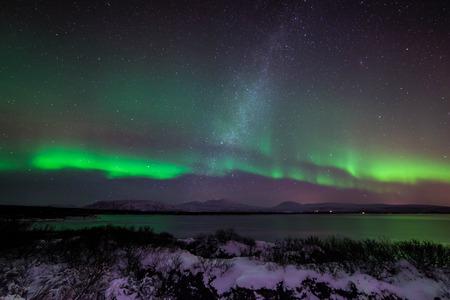aurora: Aurora and Milky Way